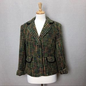 REQUIREMENTS Boucle Piping Trim Fall Colors Jacket